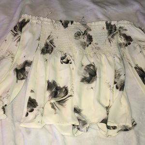 NWT EXPRESS SMOCKED OFF THE SHOULDER TOP